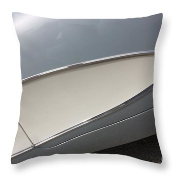 61 Corvette-grey-sidepanel-9244 Throw Pillow by Gary Gingrich Galleries