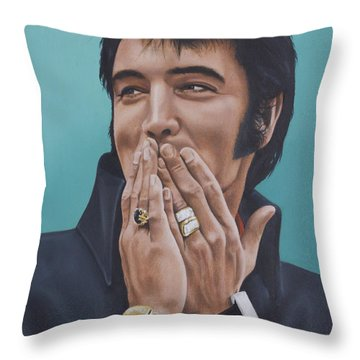 69 Press Conference Throw Pillow by Rob De Vries