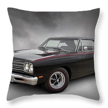 '69 Roadrunner Throw Pillow by Douglas Pittman
