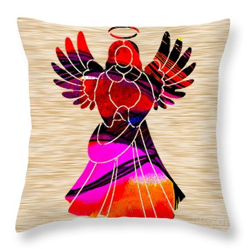 Angel Throw Pillow by Marvin Blaine