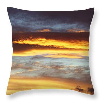 Bright Sky Throw Pillow by Les Cunliffe