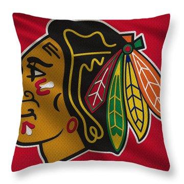 Chicago Blackhawks Uniform Throw Pillow by Joe Hamilton