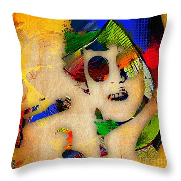 Donovan Collection Throw Pillow by Marvin Blaine