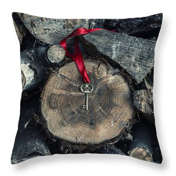 key Throw Pillow by Joana Kruse