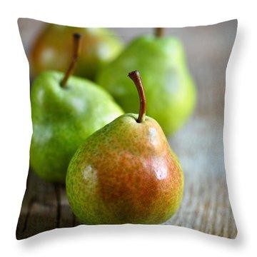 Pears Throw Pillow by Nailia Schwarz