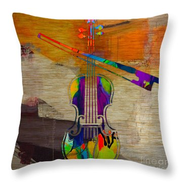 Violin Throw Pillow by Marvin Blaine