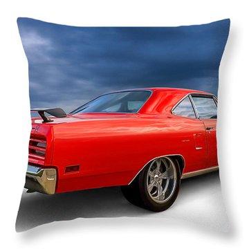 '70 Roadrunner Throw Pillow by Douglas Pittman