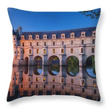 Chateau Chenonceau Throw Pillow by Brian Jannsen
