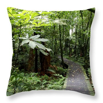 Forest Throw Pillow by Les Cunliffe