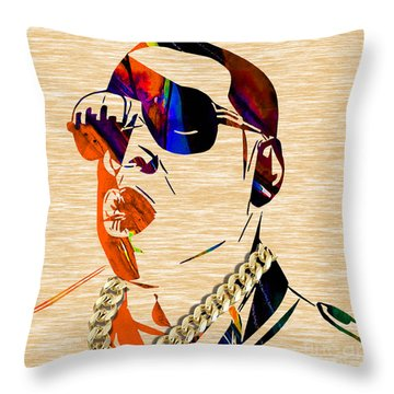 Jay Z Collection Throw Pillow by Marvin Blaine