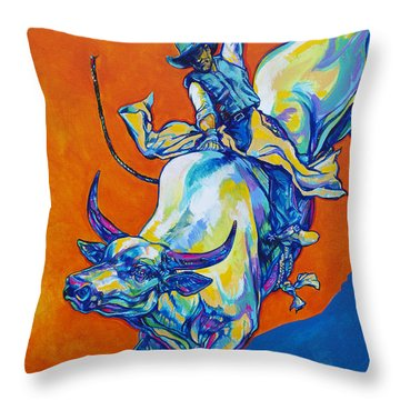 8 Second Insanity Throw Pillow by Derrick Higgins