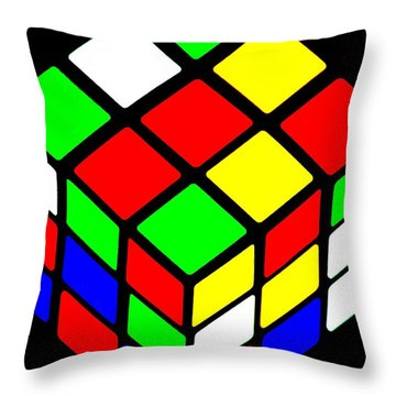 80s Icon Throw Pillow by Benjamin Yeager