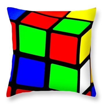80s Memory Throw Pillow by Benjamin Yeager