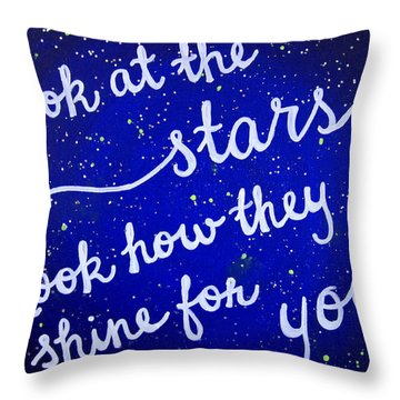 8x10 Look At The Stars Throw Pillow by Michelle Eshleman