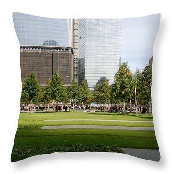 9/11 Grass Throw Pillow by Rob Hans