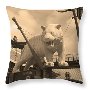 Comerica Park - Detroit Tigers Throw Pillow by Frank Romeo