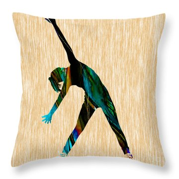 Fitness Throw Pillow by Marvin Blaine
