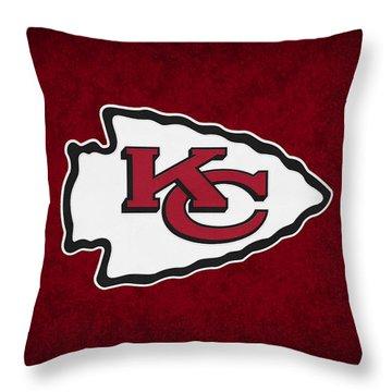 Kansas City Chiefs Throw Pillow by Joe Hamilton