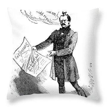 Prince Otto Von Bismarck  Throw Pillow by Granger