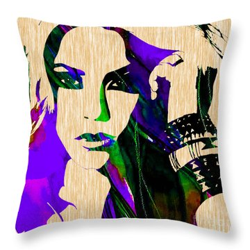 Shakira Collection Throw Pillow by Marvin Blaine