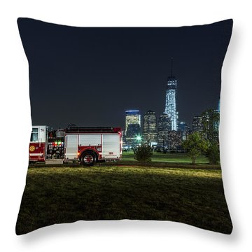 911 Throw Pillow by Susan Candelario