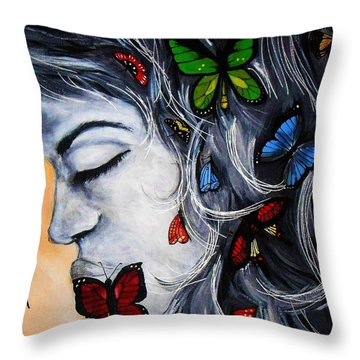 A Beautiful Daydream Throw Pillow by Michelle Pope