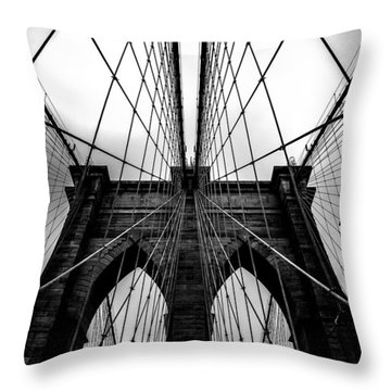 A Brooklyn Perspective Throw Pillow by Az Jackson