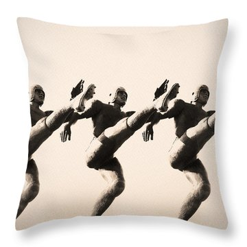 A Chorus Line Throw Pillow by Bill Cannon