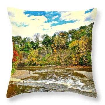 A Cleveland Autumn Throw Pillow by Frozen in Time Fine Art Photography