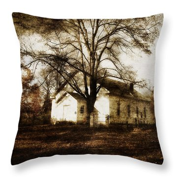 A Country Church Throw Pillow by Cynthia Lassiter