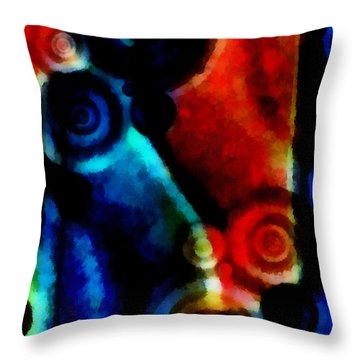 A Drop In The Puddle 1 Throw Pillow by Angelina Vick
