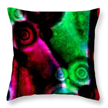 A Drop In The Puddle 3 Throw Pillow by Angelina Vick