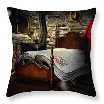 A Fairytale Before Sleep Throw Pillow by Alessandro Della Pietra