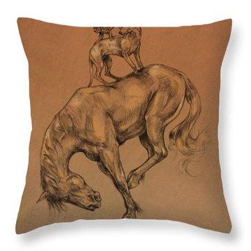 A Fine Balance Throw Pillow by Derrick Higgins