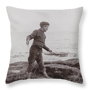 A Fisher Laddie Throw Pillow by James Patrck