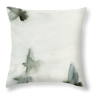 A Flock Of Pigeons 1 Watercolor Painting Of Birds Throw Pillow by Beverly Brown