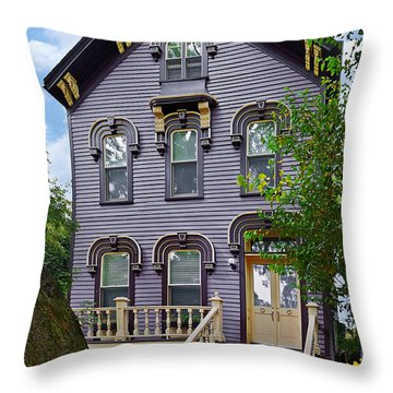 A Glimpse Into Old Town Chicago Throw Pillow by Christine Till