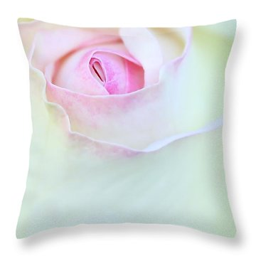 A Hint Of Pink Throw Pillow by Sabrina L Ryan