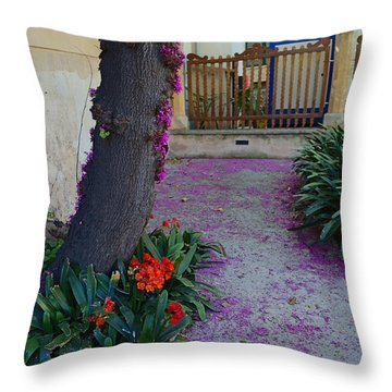 A Hint Of Spring Throw Pillow by Rene Triay Photography