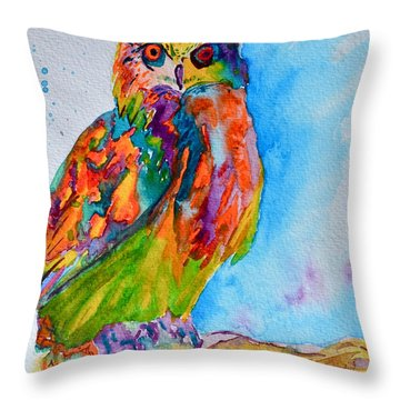 A Hootiful Moment In Time Throw Pillow by Beverley Harper Tinsley