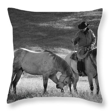 A Kind Moment Throw Pillow by Sandra Bronstein