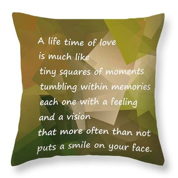 A Life Time Of Love Throw Pillow by Jeff Swan