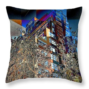 A Little Bit Of Spring In The City Throw Pillow by Miriam Danar