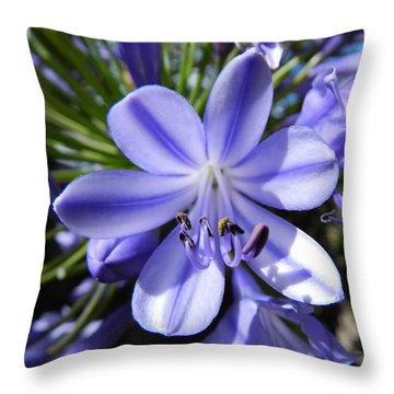 A Little Closer Throw Pillow by Leana De Villiers