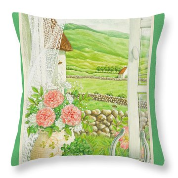 A Lucky View Throw Pillow by Lynn Bywaters