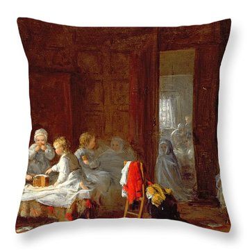 A Midnight Feast, 1866 Throw Pillow by Frederick Daniel Hardy
