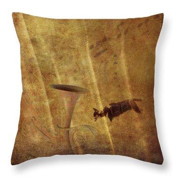 A Mirage Of Music Throw Pillow by Suzy Norris