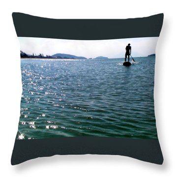 A Moment Of Enjoy Sup #1 Throw Pillow by Chikako Hashimoto Lichnowsky