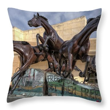 A Monument To Freedom Throw Pillow by Joan Carroll