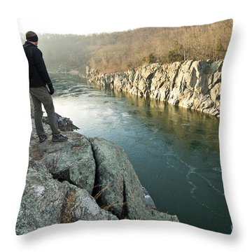 A Morning At Mathers Gorge Throw Pillow by Benjamin Reed